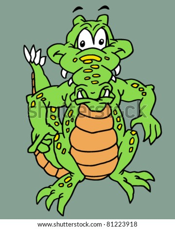 illustration of a reptile - stock vector