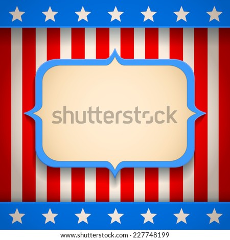 illustration of a retro American banner - stock vector