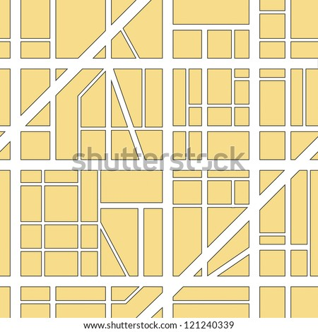 illustration of a seamless city map background - stock vector