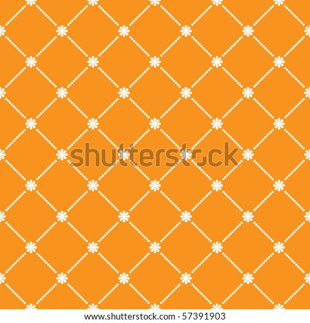 Illustration of a seamless flower pattern wallpaper. EPS 10 vector file included - stock vector