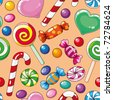 illustration of a seamless pattern candies - stock photo