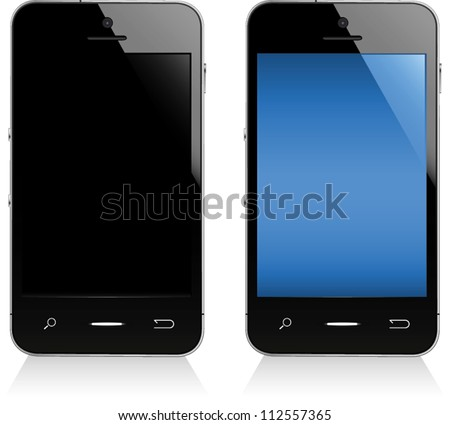 Illustration of a smart phone.  Fully editable vector graphics. - stock vector