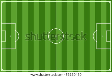 Illustration of a soccer field. - stock vector