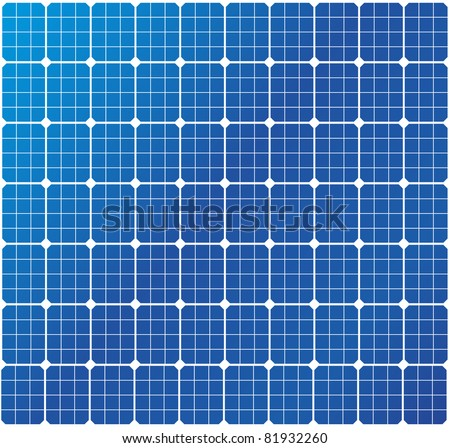 illustration of a solar cell pattern, eps8 vector - stock vector