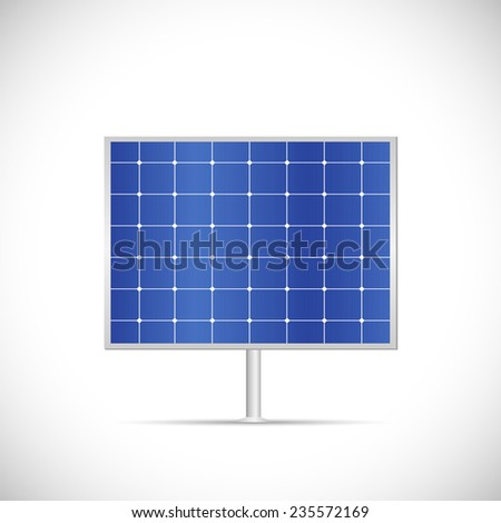 Illustration of a solar panel isolated on a white background. - stock vector