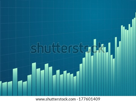 illustration of a stock performing chart background, eps10 vector - stock vector