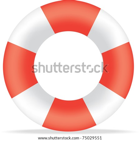 Illustration Striped Red White Life Saving Stock Vector 75029551 ...