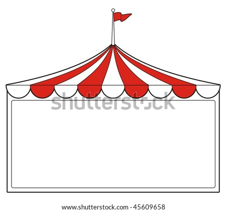 illustration of a tent sign perfect for promotion or advertising or carnival signs - stock vector