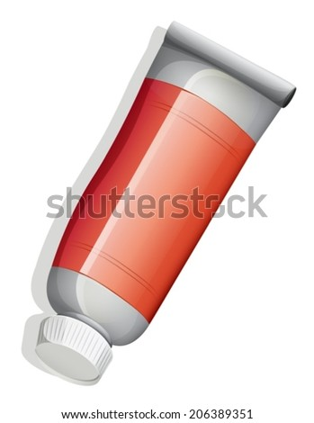 Illustration of a topview of a red tube on a white background
