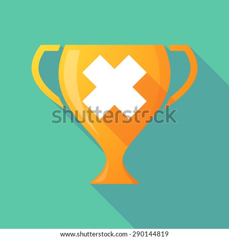 Illustration of a trophy icon with an irritating substance sign - stock vector