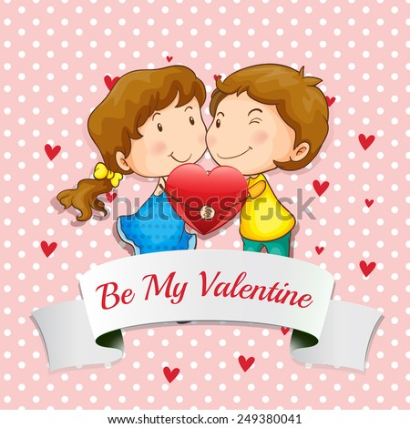 Vector Illustration Valentines Day Greeting Card Vector – Picture of a Valentine Card