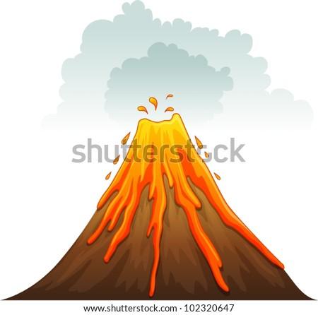 Illustration Volcano E...