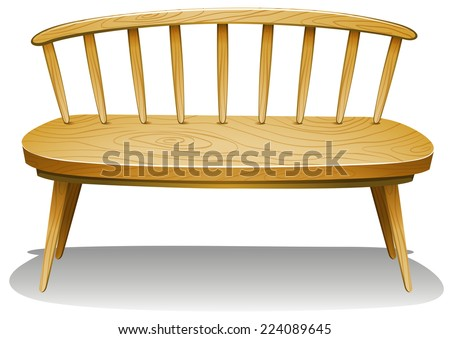 Illustration of a wooden furniture on a white background  - stock vector