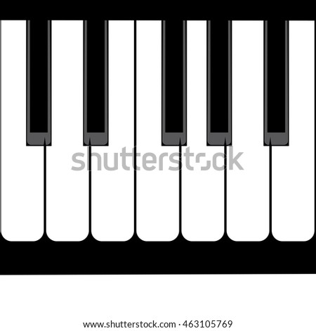 Illustration of abstract black and white piano keys background.