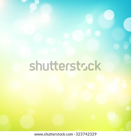 Illustration of Abstract Natural Spring or Summer Sunny Background , Copyspace - stock vector