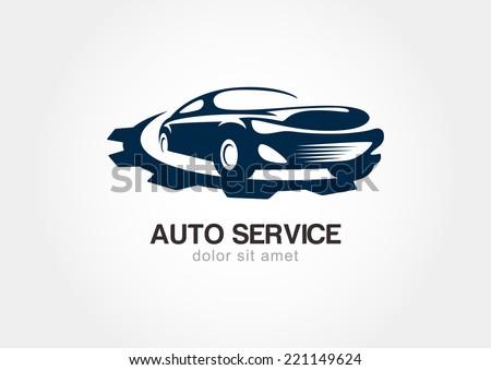 illustration abstract sport car gears cogs stock vector 221149624 shutterstock. Black Bedroom Furniture Sets. Home Design Ideas
