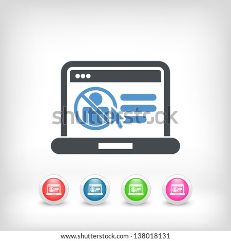 Illustration of access forbidden to computer document - stock vector