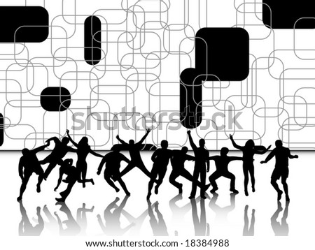 Illustration of active people - stock vector