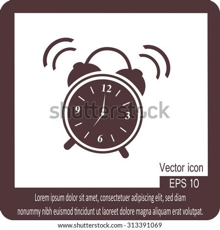 illustration of alarm clock ringing - stock vector