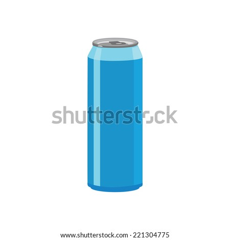 Illustration of aluminum can, soda can, beer can - stock vector