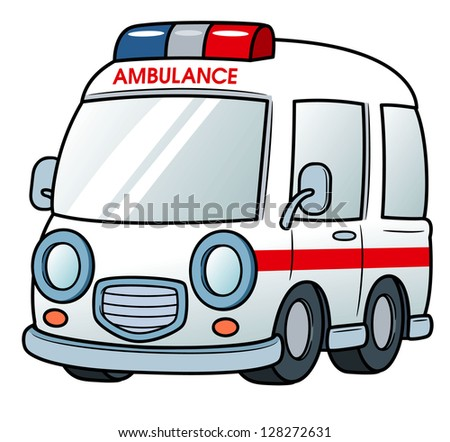 illustration of Ambulance vector - stock vector