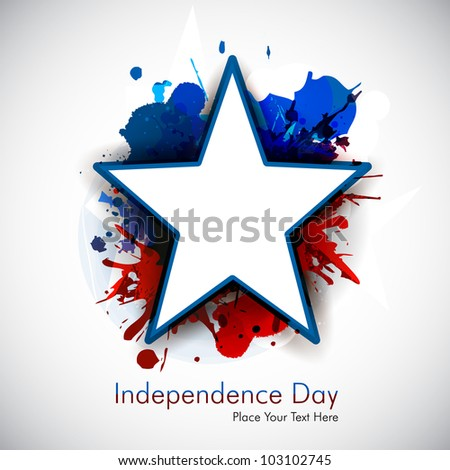 Illustration of American Independence Day of 4th July with star on grungy flag color background.EPS 10. Can be use as banner, poster and flyer. - stock vector