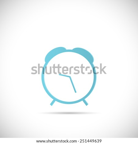 Illustration of an abstract clock design isolated on a white background. - stock vector