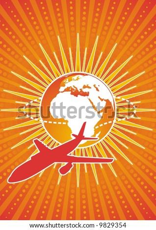 Illustration of an Airbus commercial passenger jet. - stock vector