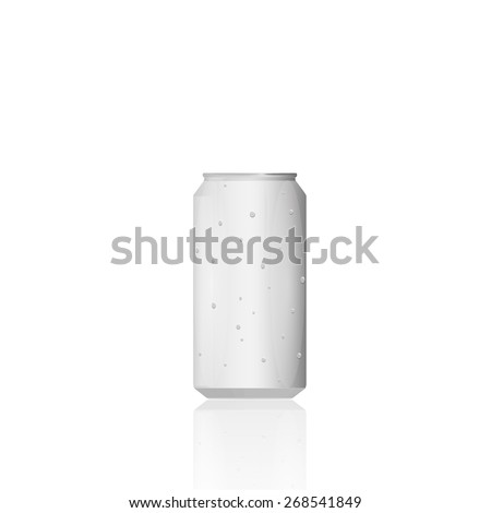 Illustration of an aluminum can isolated on a white background. - stock vector