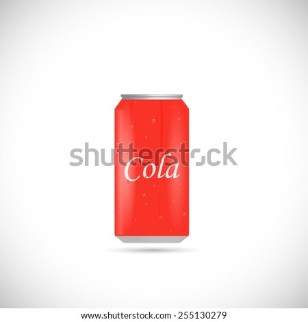 Illustration of an aluminum cola can isolated on a white background. - stock vector