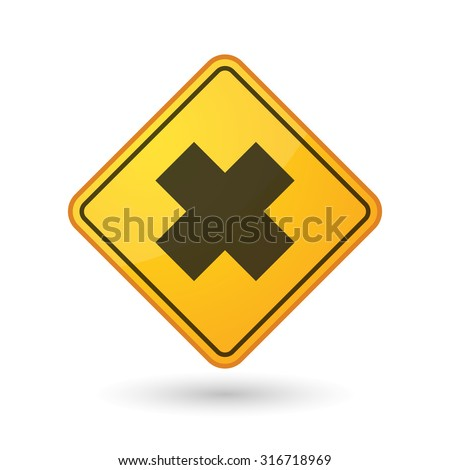 Illustration of an awareness sign with an irritating substance sign - stock vector