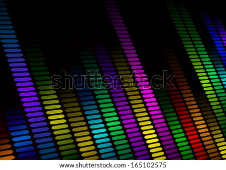 illustration of an colorful equalizer visualisation, symbol for music and sound