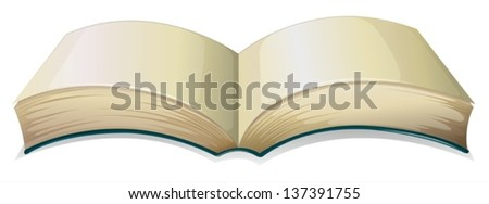 Illustration of an empty thick book on a white background