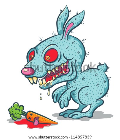 Evil Rabbit Cartoon