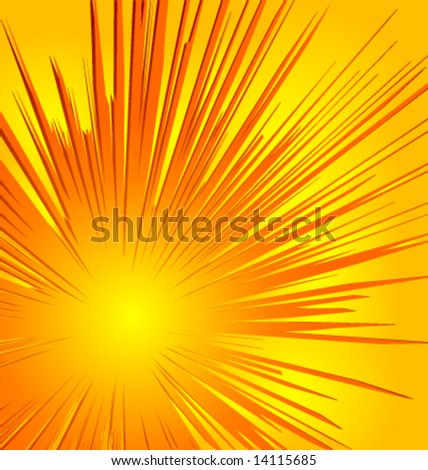 Illustration of an explosion. - stock vector
