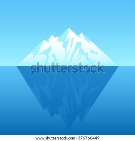 Illustration of an iceberg - stock vector
