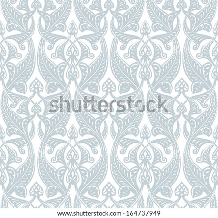Illustration of an intricate seamlessly tilable repeating Art Nouveau background pattern - stock vector