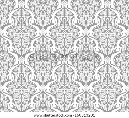 Illustration of an intricate seamlessly tilable repeating Islamic motif vinatge pattern - stock vector