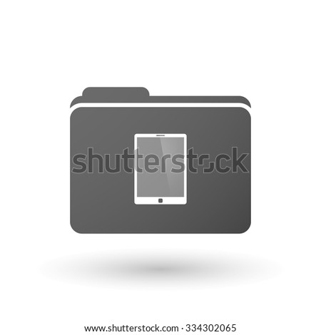 Illustration of an isolated binder with a tablet computer - stock vector