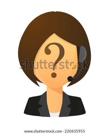 Illustration of an isolated female customer service worker