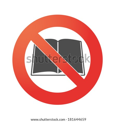 Illustration of an isolated forbidden signal  with a book