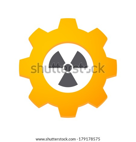 Illustration of an isolated gear with an icon - stock vector