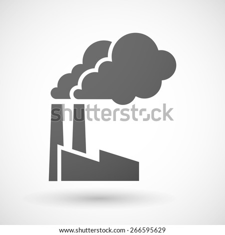 Illustration of an isolated grey factory icon - stock vector