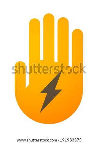 Illustration of an isolated hand icon - stock vector