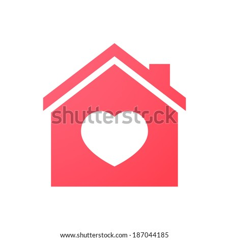 Illustration of an isolated house icon - stock vector