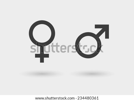 Illustration of an isolated sexual symbols icon set