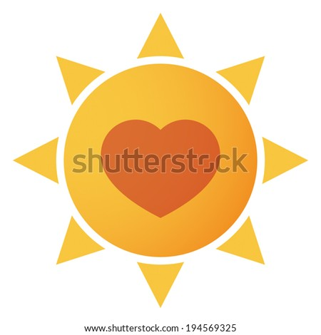 Illustration of an isolated sun icon - stock vector