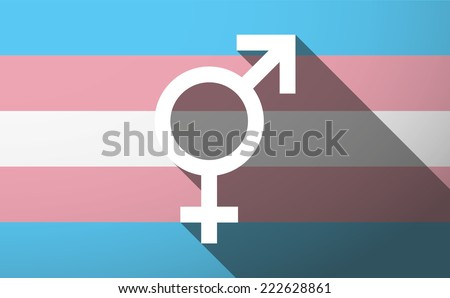Illustration of an isolated transgender flag - stock vector