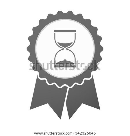 Illustration of an isolated vector badge icon with a sand clock - stock vector