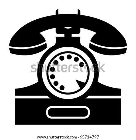 illustration of an old telephone - stock vector